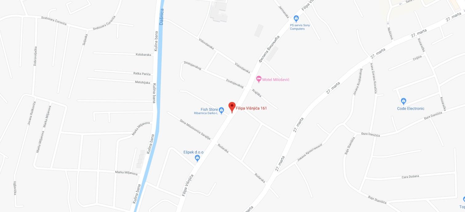 Filipa Visnjica 161 Bijeljina Mapa Auto Stakla Ivanic